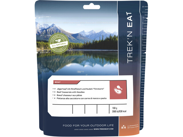 Trek'n Eat Outdoor Meal Meat 160g Beef Casserole with Noodels